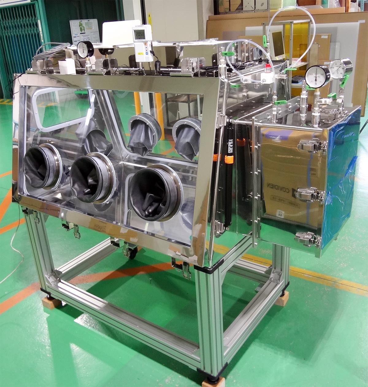 ステンレス製ガス置換グローブボックス(高密閉型)