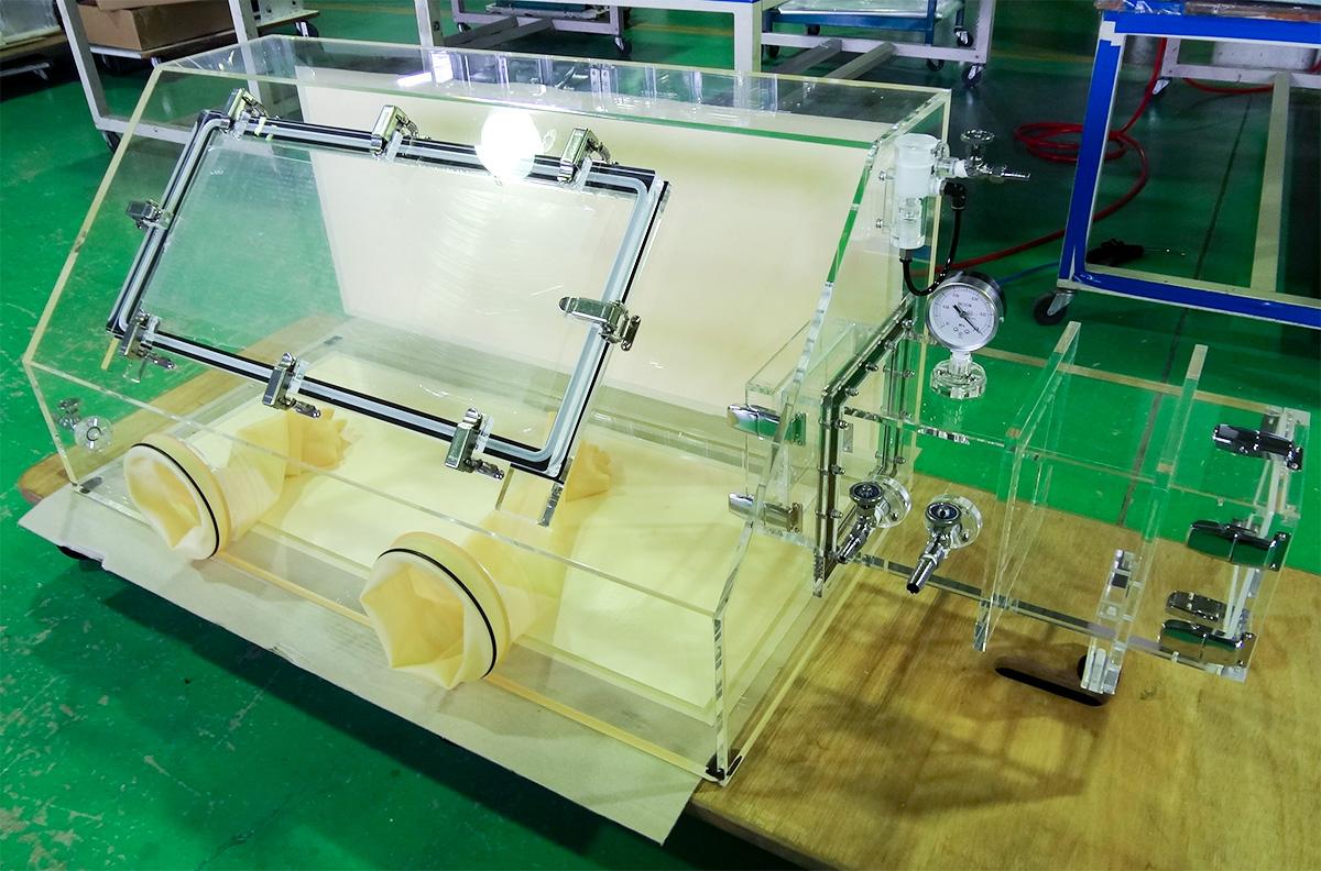 アクリル製ガス置換グローブボックス